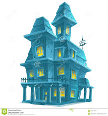haunted house in halloween on white background stock vector