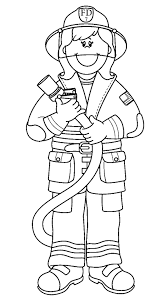coloring page firefighter eson me