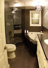 Beige And Black Bathroom Ideas White Wooden Interior Swing Door Small Shower Using Clear Glass