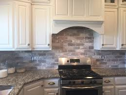love brick backsplash in the kitchen easy diy install with our
