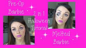 Halloween Barbie Makeup by Pre Op Barbie Melted Barbie Youtube