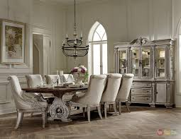 Dining Table Set Traditional White Formal Dining Room Sets Gen4congress Com