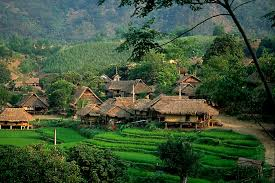 Stilt houses in Mai Chau Hoa Binh