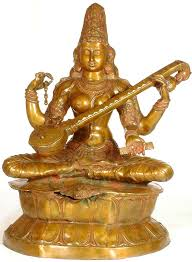 Saraswati playing the Veena.