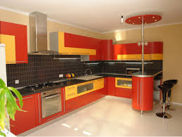 Orange And White Kitchen Ideas Inspiring Ideas For L Shaped Kitchen Designs With White Wooden