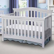 White Convertable Crib by Delta Bennington Bell 4 In 1 Convertible Crib White Ambiance