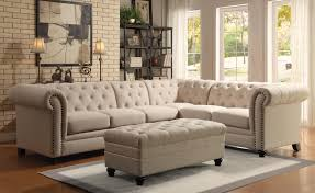 Ashley Furniture Sectionals Light Brown Fabric Ashley Furniture Sectional L Sofa Sleeper With