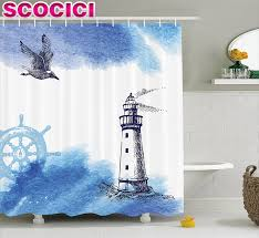 Lighthouse Bathroom Decor by Popular Lighthouse Shower Curtain Fabric Buy Cheap Lighthouse