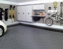 impressive white wall mounted cabinet for modern garage interior