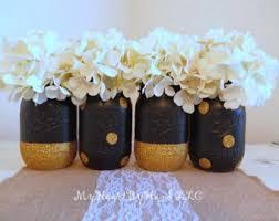 Black Centerpiece Vases by Graduation Centerpiece Etsy