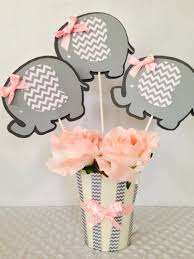 Boy Baby Shower Centerpieces by Elephant Baby Shower Centerpiece For Girls Pink And Gray Baby