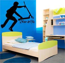 teenage wall stickers ebay large personalised stunt scooter teenage bedroom wall art sticker transfer decal