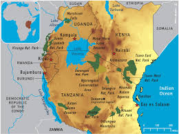 Physical Map Of Africa by Map Of Africa Lake Victoria Deboomfotografie
