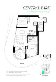 Central Park Floor Plan by Wellesley On The Park Condos Central Park Model Floor Plan
