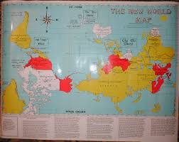 Peters Projection World Map by The Upsidedown Map Page Francis Irving
