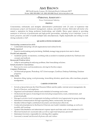 Personal Trainer Resume Example No Experience by Resume For Personal Assistant Executive Samples Free Download