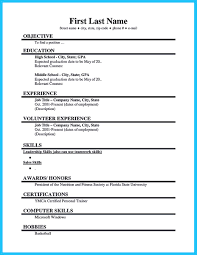 Best Job Resume by Best Current College Student Resume With No Experience