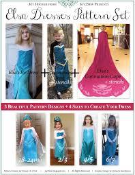 pattern witch costume elsa frozen coronation dress and cape pdf pattern