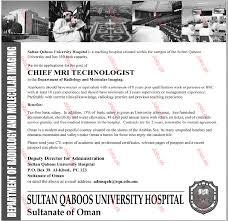 Sample Resume For Overseas Jobs by Chief Mri Technologist Job 2017 Jobs Pakistan Jobz Pk