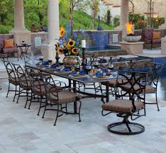 large wrought iron patio dining set for 10 people big outdoor