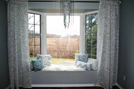 enticing curtains with room bay plus window seat saving green