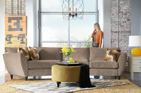 Lazy Boy Furniture Outlet Contemporary Two Piece Sectional Sofa With Ras Cuddler By La Z Boy