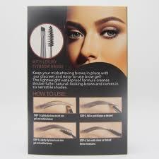 professional 2pcs waterproof black brown henna eyebrow gel tint