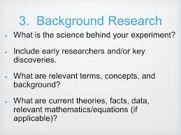 High School Science Fair Research Paper Outline   science paper