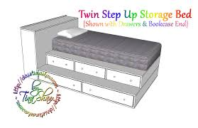 Plans To Build A Platform Bed With Storage by Ana White Twin Step Up Storage Bed Diy Projects