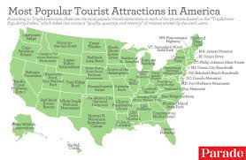 Ohio State Parks Map The Most Popular Tourist Attractions In All 50 States According