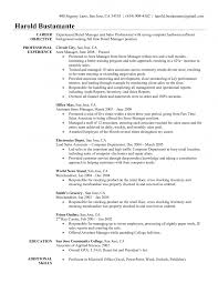 Resume Template  Objectives For Resume With Professional Experience As Assistant Store Manager And Lead Sales AngkorriceSpirit