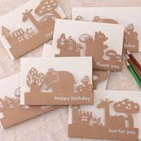 Wholesale   pcs pack Animal Hollow Kraft Paper Memo Wedding Party Gift Card Child Birthday Invitation Card Birthday Party Decorations Kids DHgate com