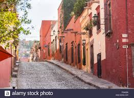 spanish colonial homes along cuadrante street in the historic