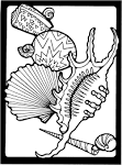 Free Printable Coloring Page...Sea Shells friendsacrossamerica.com