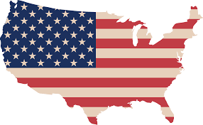 A Map Of America by Free Clipart Of A Map Of America With A Flag