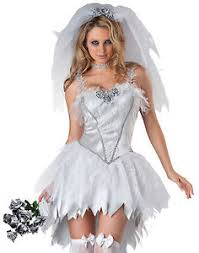 Wedding Dress Halloween Costume Bloodless Bride Zombie Wedding Dress Gown Dead