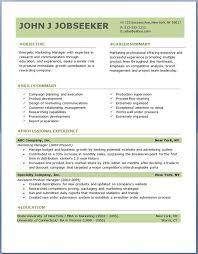 Microsoft Free Resume Template  free   microsoft word doc