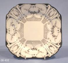 shelley black and white art deco tea plate u2013 sold collectable china