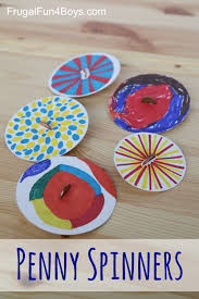 penny spinners u2013 toy tops that kids can make