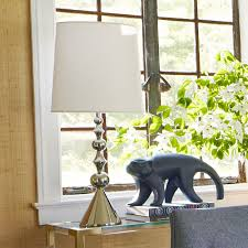 Jonathan Adler Home Decor by Jonathan Adler Harlequin Table Lamp Polished Nickel U2013 Clayton Gray