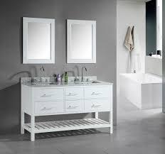 adorna 60 inch double sink bathroom vanity set white finish