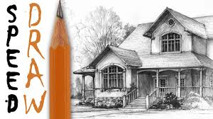 House Architectural How To Draw A House Architecture Speed Drawing Youtube