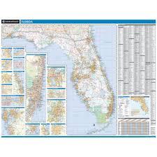 Map Of Lakeland Florida by Rand Mcnally Florida State Wall Map