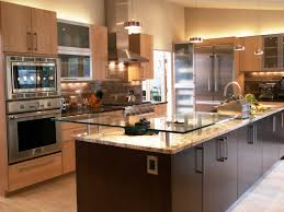 two level kitchen island designs