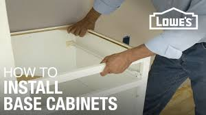 How To Level Kitchen Cabinets How To Install Base Cabinets Youtube