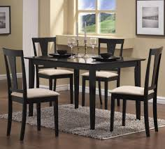 dining room simple and minimalist black dining room sets with