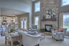 Greatroom Great Room With 2 Story Ceiling Gas Fireplace With Stone Surround