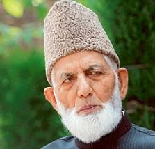 Syed Ali Shah Geelani met Father P. Samuel, head of Church of North India, in Delhi to assure him of Christians' safety in J&K. - article-2106414-11E8EF50000005DC-608_223x214