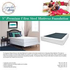 Mattress Foundation King Signature Sleep Premium Ultra Steel Mattress Foundation Walmart Com