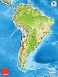 Physical Map Of Africa by Physical Map Of South America
